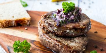 Hovädzí steak obchodníka s vínom