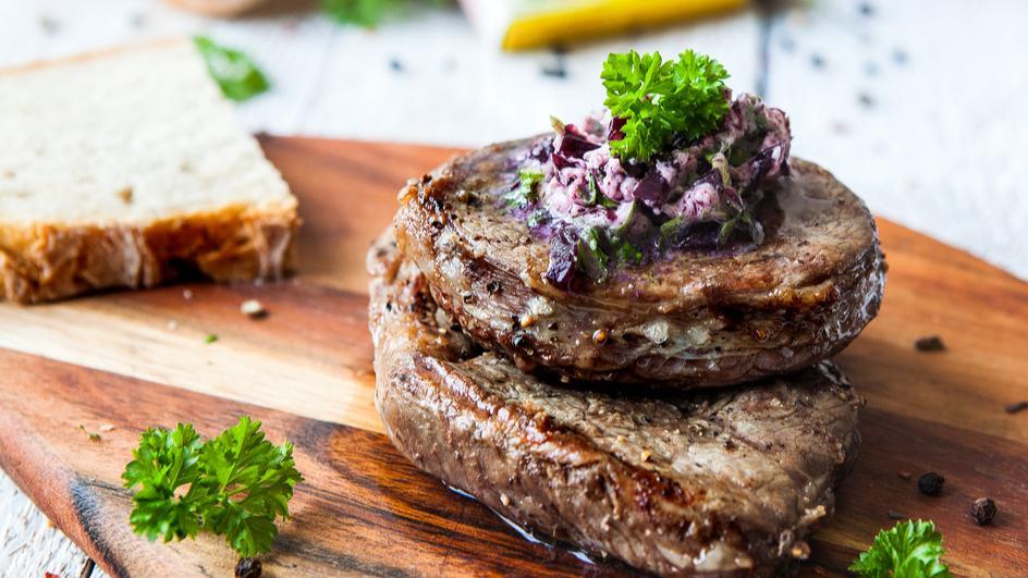 Hovězí steak obchodníka s vínem