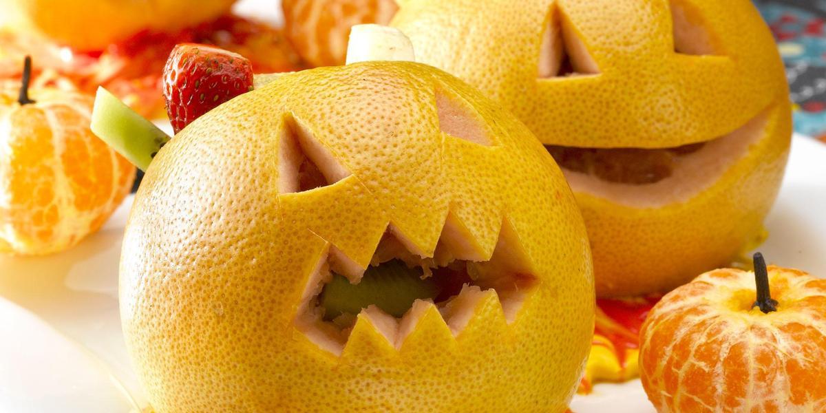 Calabaza Frutal para Halloween