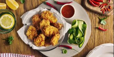 Nuggetsy z kurczaka w kukurydzianej panierce