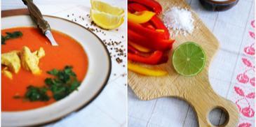 Indyjska zupa tikka masala