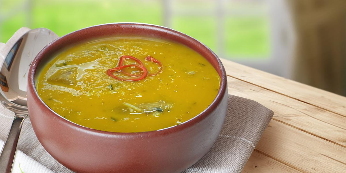 Easy Pumpkin & Carrot Chicken Soup
