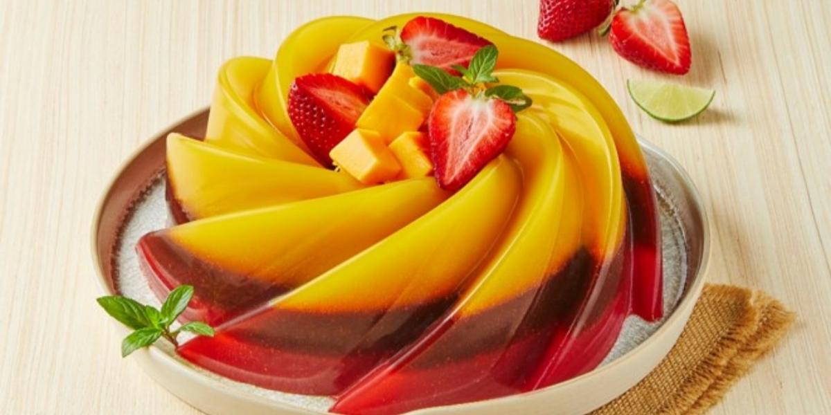 Gelatina chamoyada fresa con mango