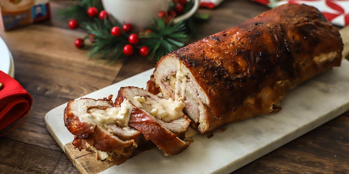 Lomo de Cerdo con Jamón y Queso Mozzarella
