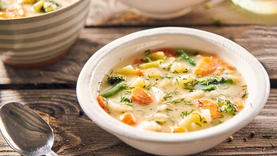 Zeleninová polévka s koprem