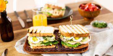 Grill-Sandwich mit Pute