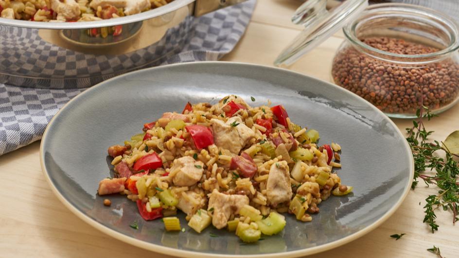 Chicken Jambalaya - kreolisches Reisgericht
