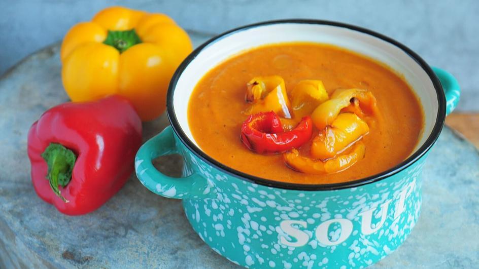 Zupa krem z papryki pieczonej