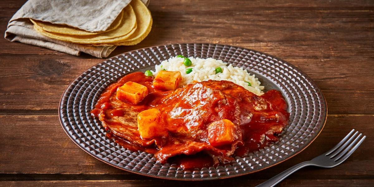 Bistec en salsa pasilla