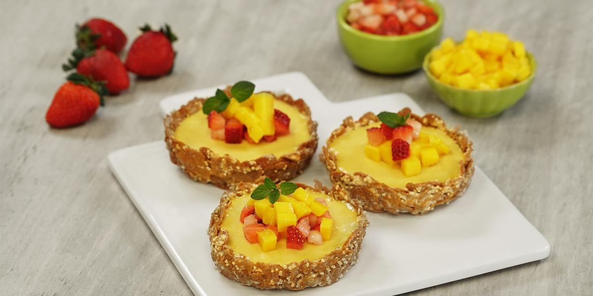 Mini tartas de mango