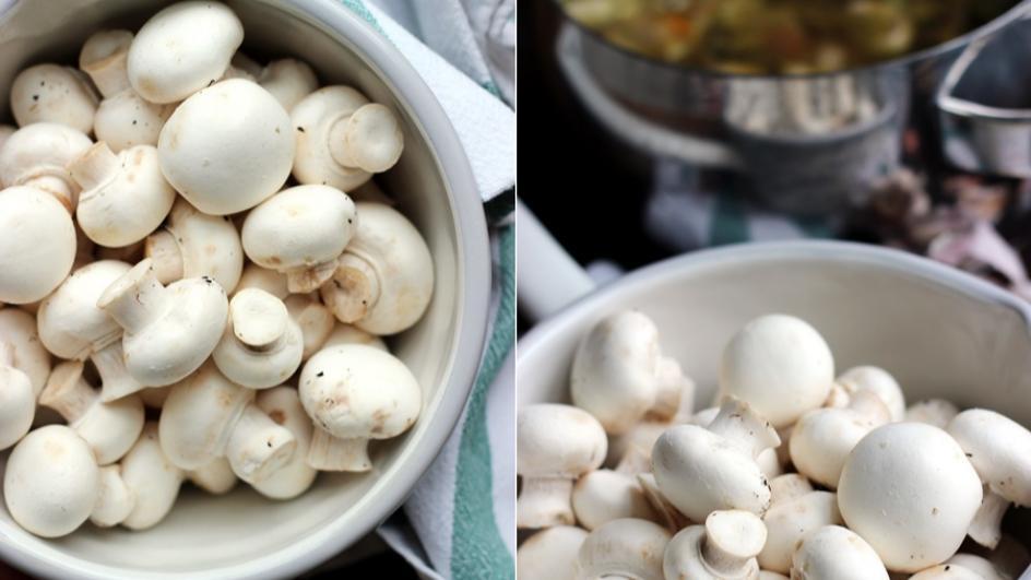 Zupa pieczarkowa z ziemniakami i boczkiem