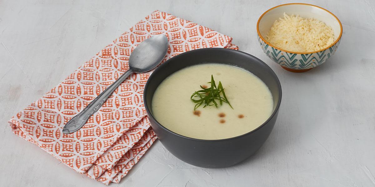 Crema de cebollas y poro con crema de leche