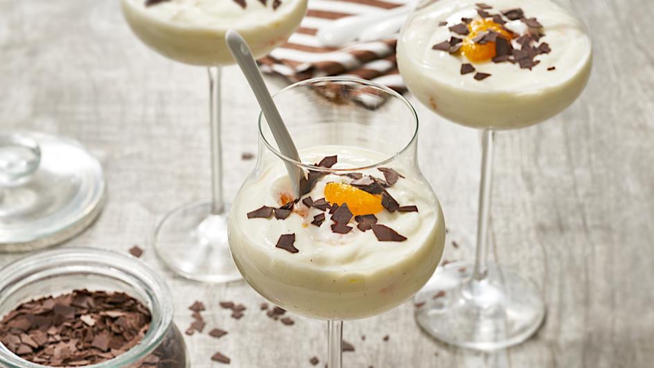 Mandarinen-Quark-Dessert