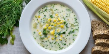 Zupa ze świeżej kukurydzy