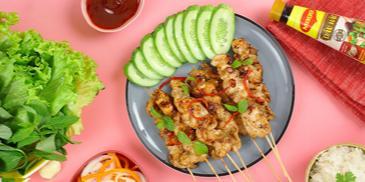 Gà xiên nướng kiểu Thái