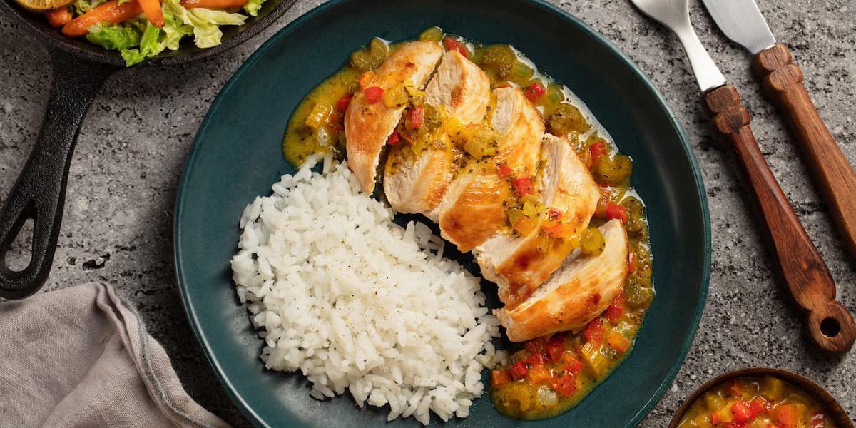 Pollo en salsa caser