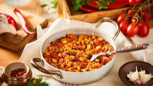 Húsimádó mexikói chilis bab