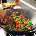 Appetizing Asparagus Stir Fried With Firm Tofu