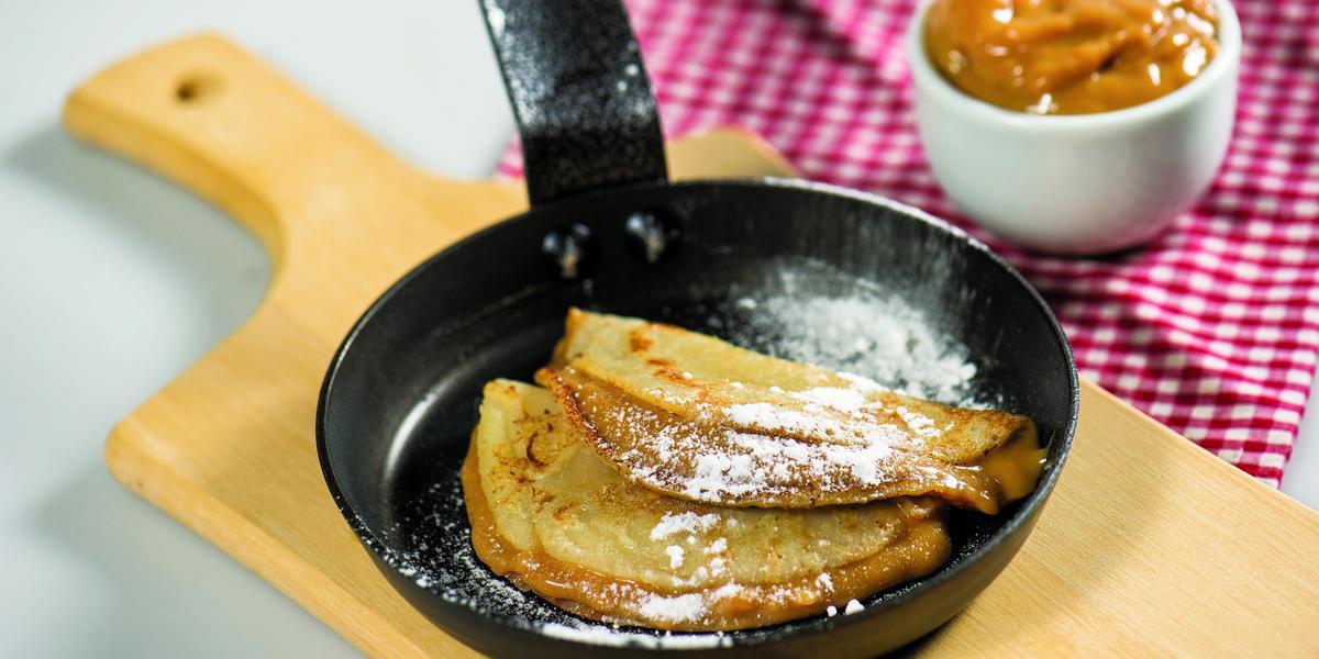 Crepes con Manjar de Leche Condensada