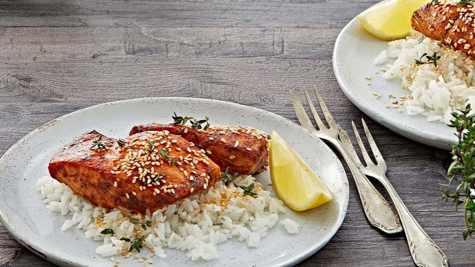 Spicy Teriyaki Salmon Maggi
