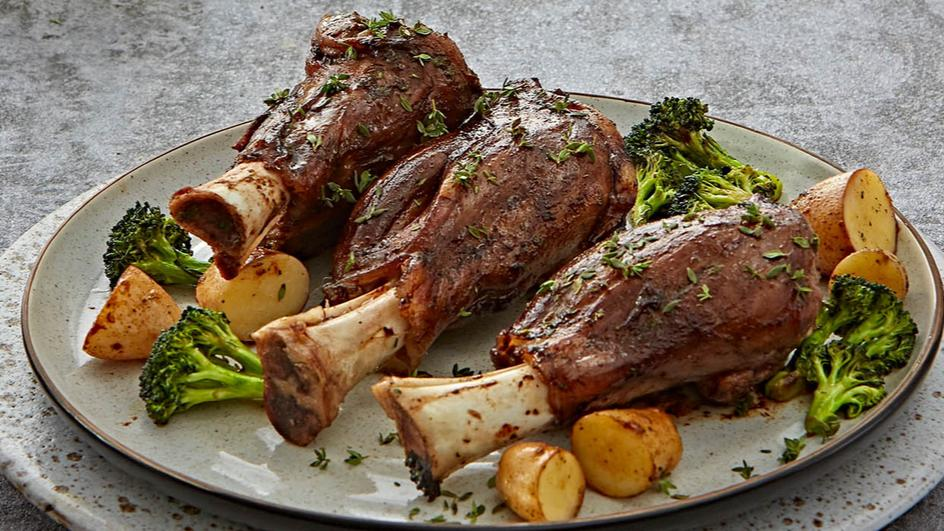 Baked Lamb Shanks with Vegetables