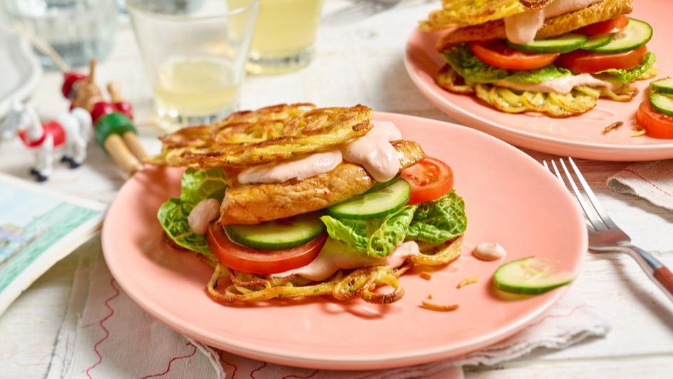 Nudelpuffer-Burger
