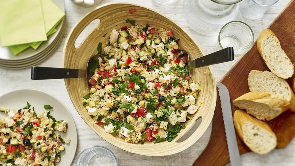 Zucchini-Reis-Salat