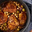 Chicken with Olives and chickpeas