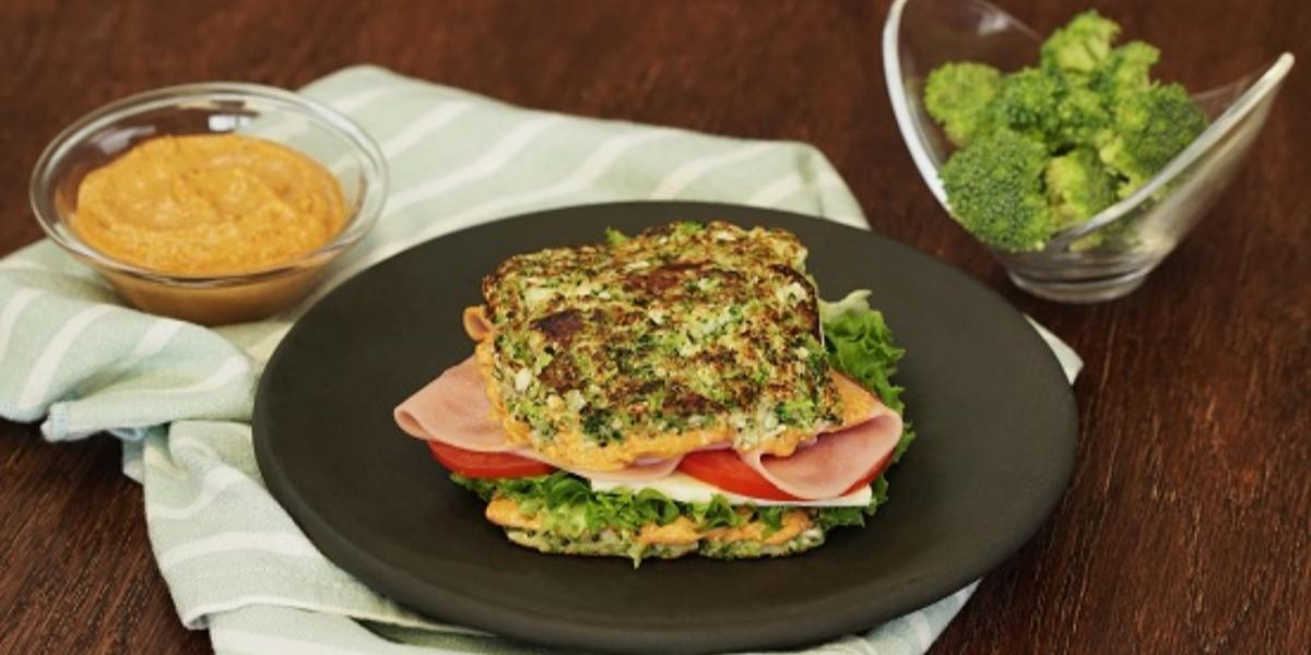 Sándwich de brócoli y coliflor