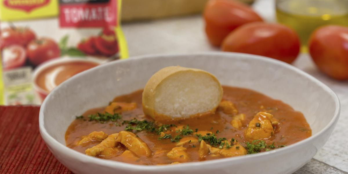 Crema de Tomate con Pollo