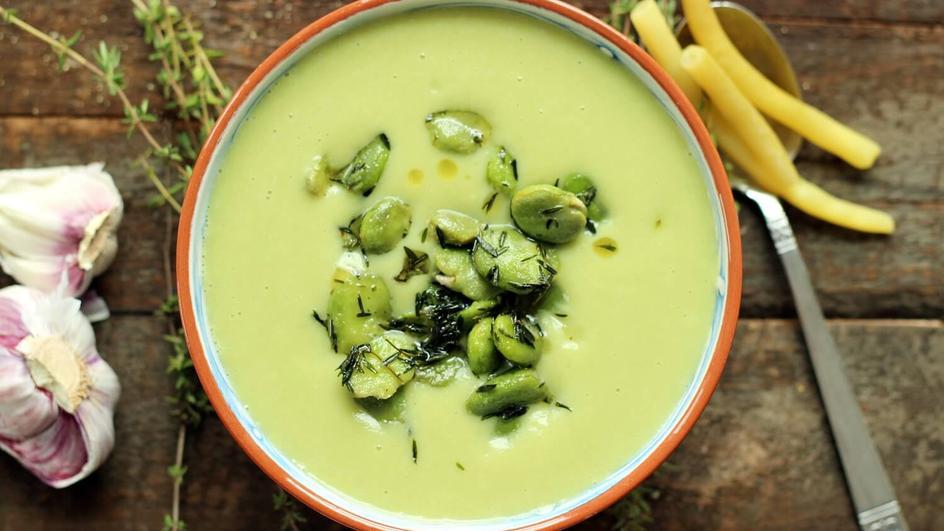 Zupa krem z bobu i fasolki szparagowej