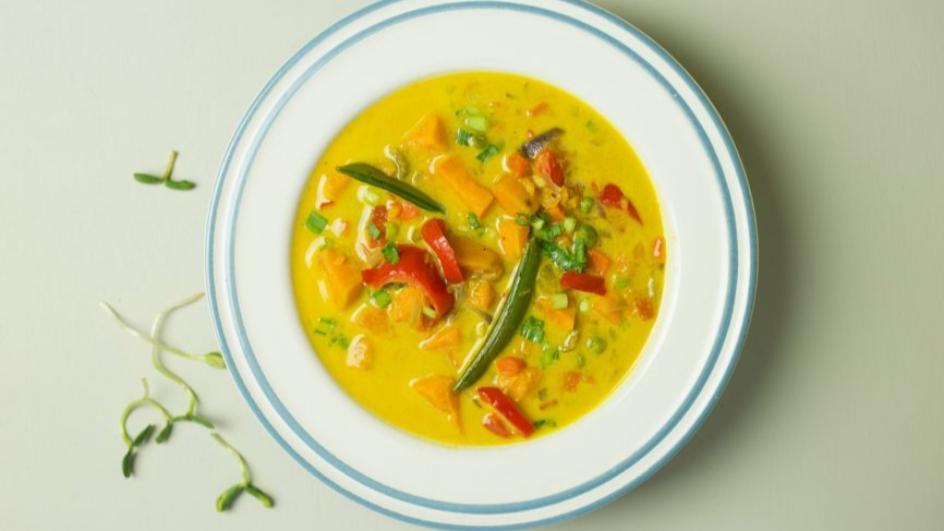 Zupa tajska z dynią