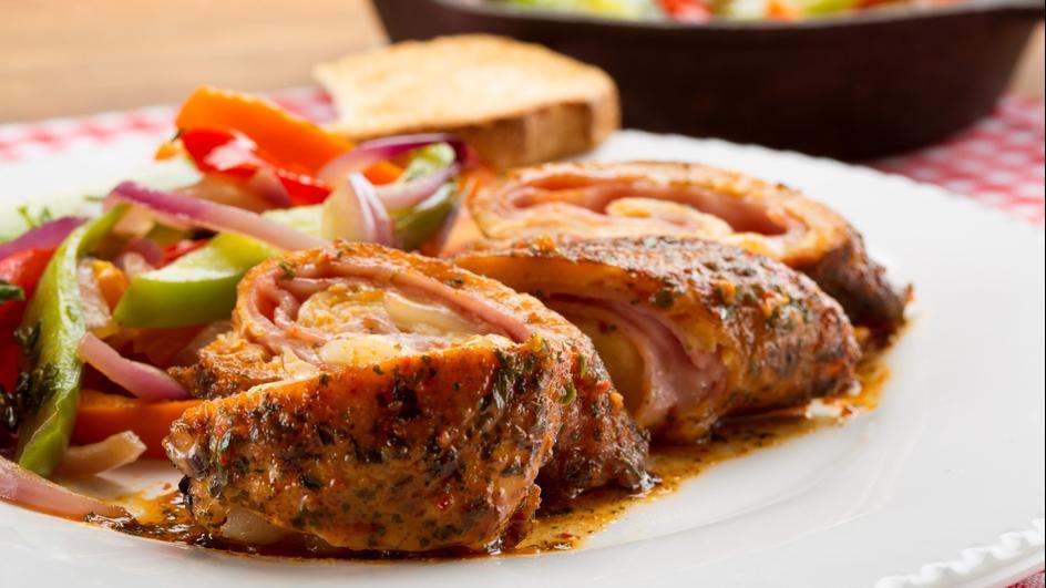 Kurczak faszerowany szynką i serem