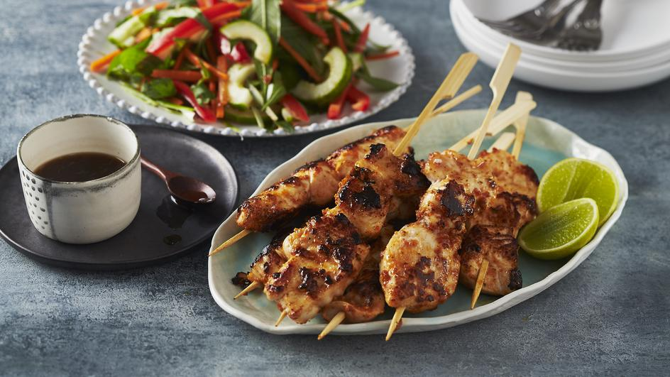 Soy Chicken With Asian Salad