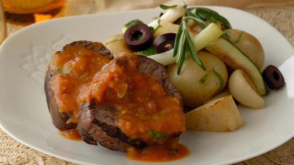 Provencal Steak with Spring Vegetables