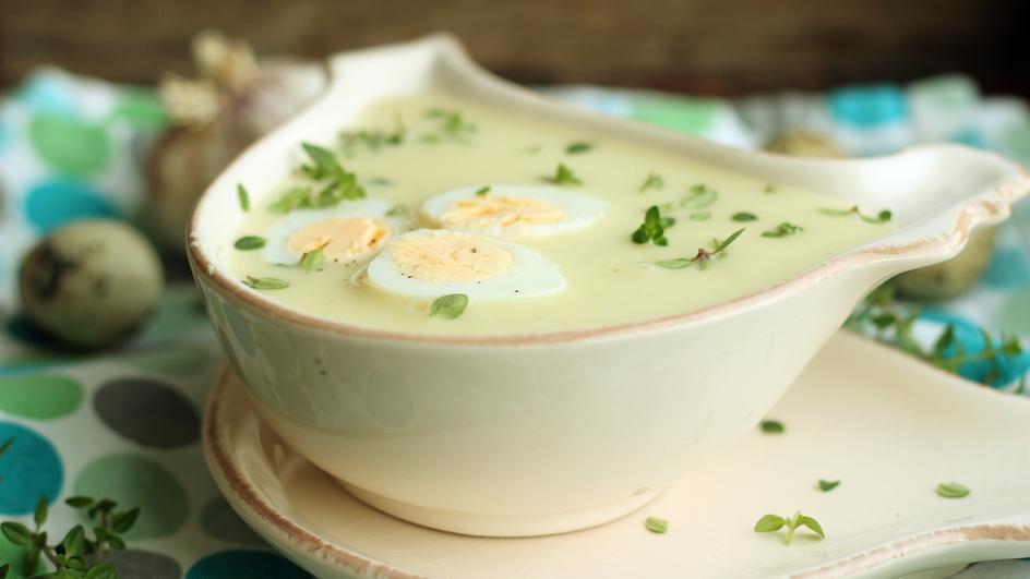 Zupa chrzanowa wegetariańska