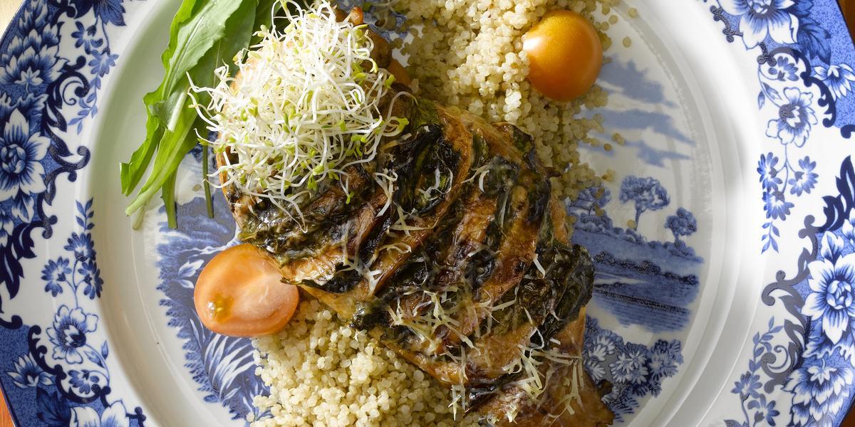 Pechugas de Pollo con Espinaca Gratinada