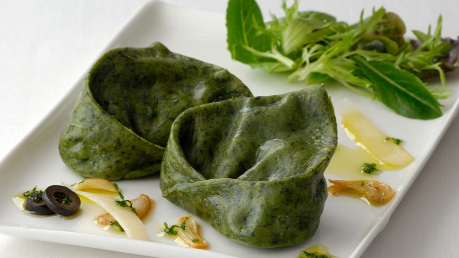 Spinach Tortelloni with Ricotta Cheese