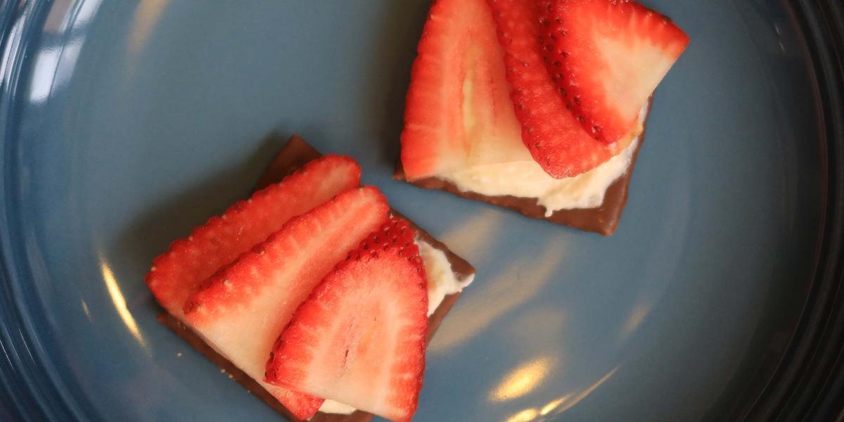 napolitana de fresa y crema