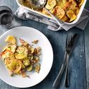 Groente ovenschotel met vlees en aardappel