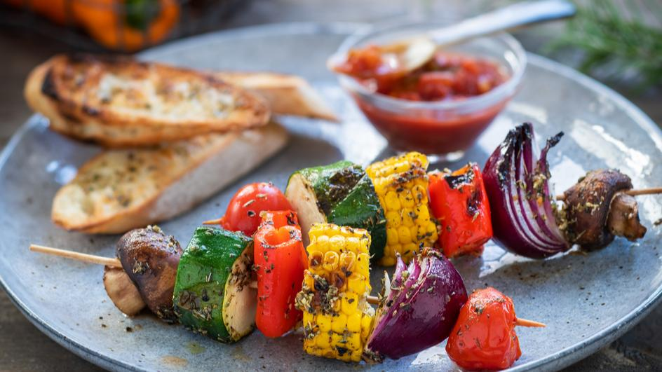 Gemüse-Grill-Spieß
