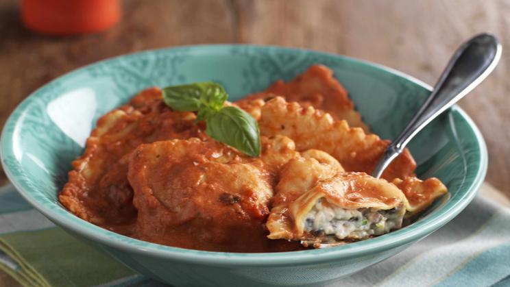 Mushroom Amp Mascarpone Ravioli In Creamy Tomato Maggi