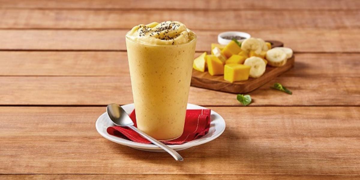 Smoothie mango y plátano