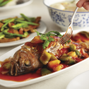 Perfectly Pan Fried Grouper With Juicy Sweet Sour Pineapple Sauce