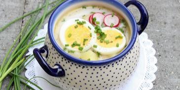 Wiosenna zupa z rzodkiewką i jajkiem