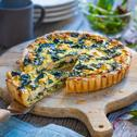 Lachs-Spinat Quiche