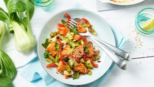 Teriyaki-Lachs mit Gemüse
