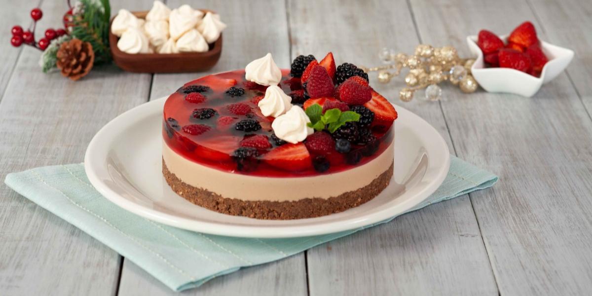 Cheesecake nochebuena