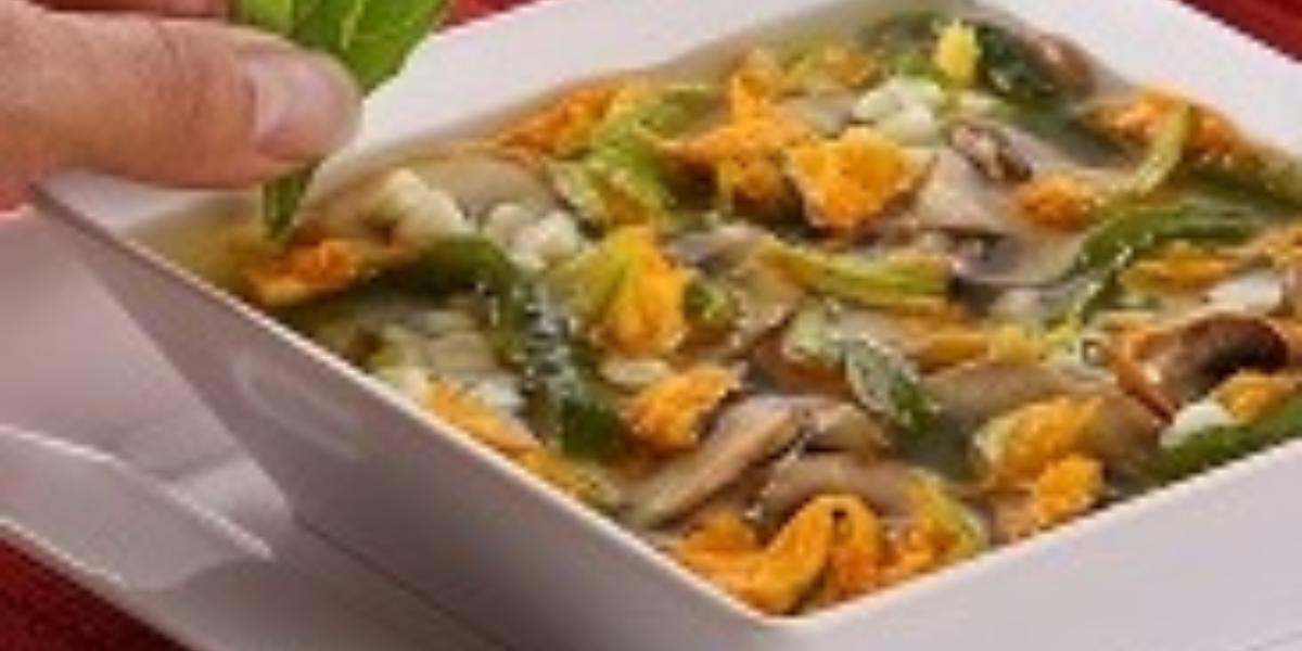 sopa flor de calabaza