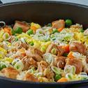 أرز آسيوي بالدجاج